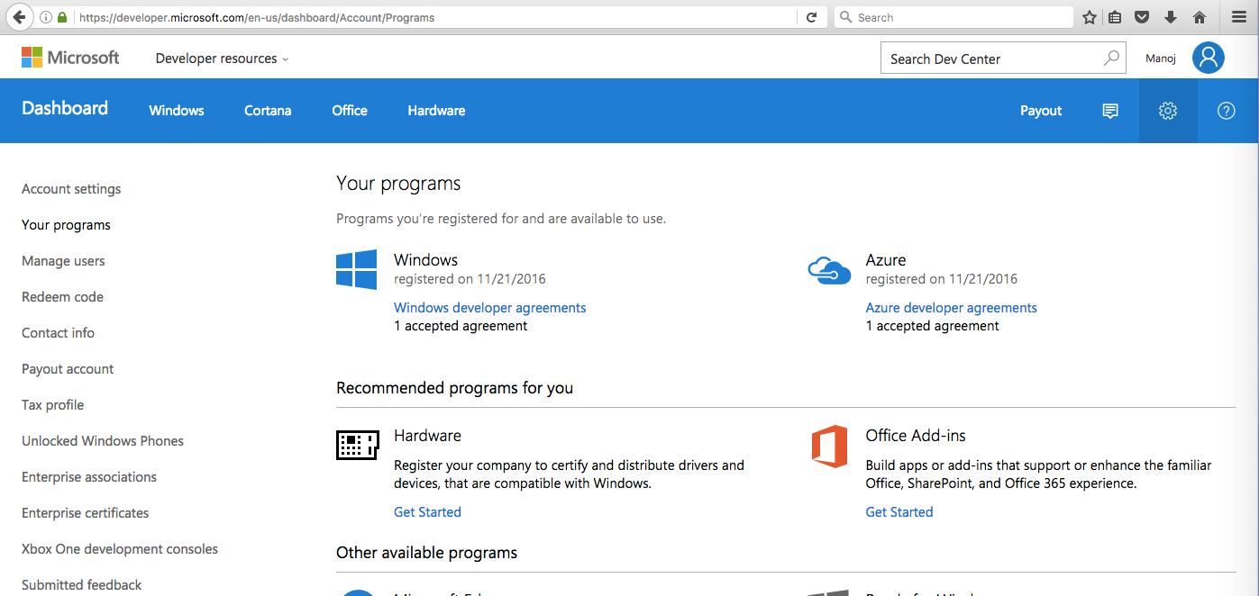 Microsoft Developer Centre